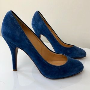 Beautiful J. Crew Blue Suede Pumps Size 6.5
